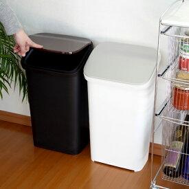 ゴミ箱 ふた付き 20 RISU リス スムースプッシュダストボックス 静音 スリム メタル ウッド おしゃれ ワンプッシュ リビング キッチン