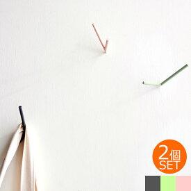 【期間限定SALE】 壁掛け フック ウォールフック おしゃれ V Hooks 2個セット 耐荷重4kg スチール製 ハンガー 帽子掛け ねじ 引っ掛け 収納 シンプル 壁 ウォールハンガー Chihong チホン
