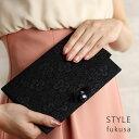 STYLE fukusa スタイルふくさ ふくれ織りふくさ スリット型 ブラック SFN01-01(ふくさ 慶弔両用 結婚式 かわいい 袱紗…