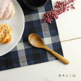 SALIU デザートスプーン 31114(スプーン 木 おしゃれ 木製 スープ 北欧風 小さい カトラリー 木のスプーン ティースプーン 木のカトラリー デザート かわいい)