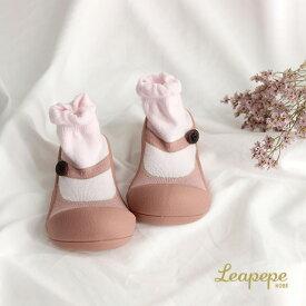 Leapepe×Attipas レアペペ×アティパス ベビーシューズ 20-2002(赤ちゃん 靴 ベビー シューズ ファースト 出産祝い ソックスシューズ プレゼント おしゃれ フォーマル かわいい 結婚式 女の子)