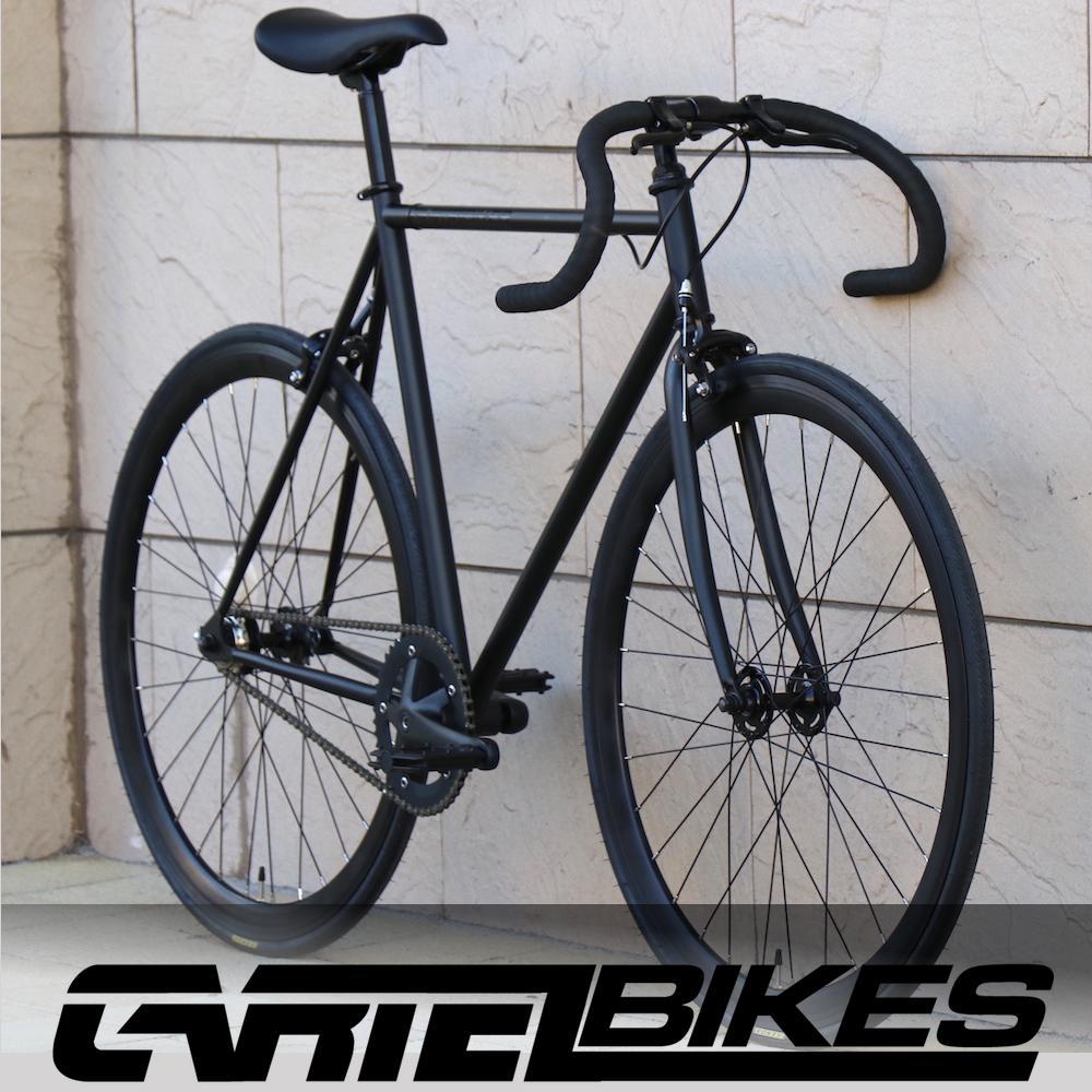 ピストバイク 完成車 カーテルバイク CARTELBIKES AVENUE MAT BLACK PISTBIKE 店頭受取り可能 安心一年保証