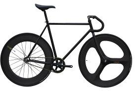 ピストバイク 完成車 CARTEL BIKE AVENUE MAT BLACK FRONT 3SPOKE REAR 88mm CARBON WHEEL CUSTOM カーテルバイク【自転車 バイク スポーツバイク 完成品 クロモリ 軽量 カスタム カスタムバイク ベース フリーギア 固定ギア 初心者 シンプル おしゃれ 黒 ブラック】
