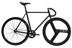 ピストバイク 完成車 CARTEL BIKE AVENUE MAT BLACK FRONT C.B.3 PLUS CARBON WHEEL CUSTOM カーテルバイク【自転車 バイク スポーツバイク 完成品 クロモリ 軽量 カスタム カスタムバイク ベース フリーギア 固定ギア 初心者 シンプル おしゃれ 黒 ブラック】