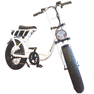 【予約受付:1月下旬入荷予定】ロカフレーム フーマ 電動自転車 完成車 ROCKA FLAME FUMA METAL WHITE【電動自転車 完成品 自転車 電動 バイク 電動アシスト e-bike シマノ 街乗り スイスイ シティサイ
