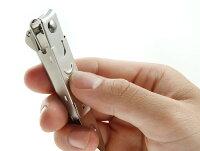 グリーンベル匠の技ステンレス製キャッチャー爪切りL曲線刃G-1031手造り本刃仕上げステンレス爪ヤスリ付全長86mm熟練職人の仕上げたハイクオリティな逸品【メール便可能】日本製