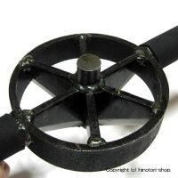 伝匠鋼付竹割り6ツ割160mm鋭利な刃を付けた高級仕様鋳物製と違いハンマーで叩けます!