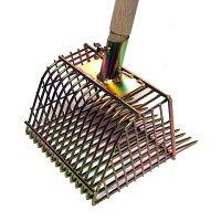 ハッピー貝取りジョレン2801315本爪潮干狩りや貝取りはこの道具があればOK!ネジで頭と柄がカンタンに着脱できます!使用時の柄の長さは1.2m着脱式