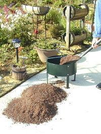 ロータシーブ回転式古土分別器まわるふるいハンドルを回して用土と古根・毛根を分別腐葉土や堆肥などの分別にも利用可能!英国生まれの日本育ち(日本製)2重焼付塗装仕上げ