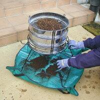 らくらく土フルイスタンド3段型用土分割器フルイ3個付フルイを前後にスライドさせるだけで用土を振り分け一度に3リットルの用土を3種類に分けられます!37cmフルイ用日本製