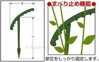 花のワンポイント支柱新花ささえ6本組鉢植えやプランターの草花の倒れ・広がりを防止寄植などのワンポイントのささえに最適日本製