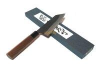 【送料無料】越前数馬作白二鋼黒打剣型文化包丁村雨170mm胡桃柄付620150202101