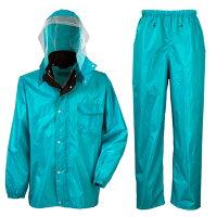 ディフェンドレインスーツ(上下セット)#3293男女兼用雨の日の通勤・作業などに最適!総裏メッシュでベタツキ感を緩和!水の侵入をディフェンス!充実機能の雨合羽上下セット!