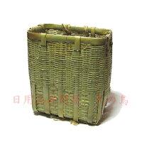 竹製背負い籠角型小山歩き、農作業時の農耕具の運搬にきのこ・山菜採り、野菜・果物の収穫作業に