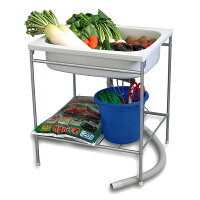 【送料無料】家庭用簡易流し台シンク容量25L家庭菜園・屋外の水仕事にアウトドア・レジャーなどの簡易流し台に
