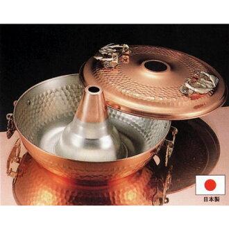 敦煌-26 厘米固体铜涮涮锅锅日本制造的铜涮涮锅火锅