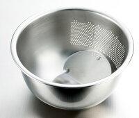 3WAY水切りボウルH-606ボールとザルのダブル機能排水穴付で米とぎ用にも使用可能日本製