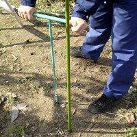 みどりの園芸支柱穴掘り器穴径16mm園芸支柱(イボ竹)の下穴あけに!アイデア商品かんたん穴あけ機