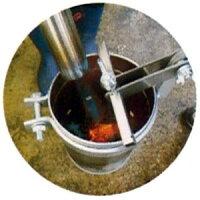 マルチシート穴あけ器(熱力)缶たん60mm等間隔に調整できるガイド棒付き練炭・木炭等の熱の力でキレイに穴を開けるマルチシート穴あけ工具