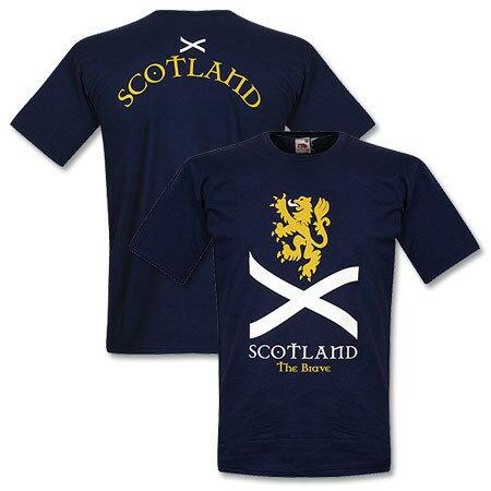★SALE★セール★RE-TAKE(リテイク) スコットランド代表 Scotland the Brave Tシャツ ジュニア(ネイビー)【サッカー サポーター グッズ Tシャツ】【スポーツ ホビー】【店頭受取対応商品】