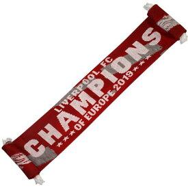 リバプール オフィシャル Champions of Europe マフラー【サッカー CL 優勝記念 スカーフ】【スポーツ ホビー】【店頭受取対応商品】