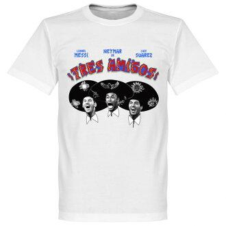 RE-TAKE (retake) Barcelona three Amigo t-shirt (white)