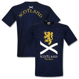 ★SALE★セール★RE-TAKE(リテイク) スコットランド代表 Scotland the Brave Tシャツ(ネイビー)【サッカー サポーター グッズ Tシャツ】【店頭受取対応商品】
