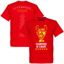 ★SALE★セール★RE-TAKE(リテイク) リバプール トロフィー Champions of Europe Squad Tシャツ(レッド)【サッカー CL 優勝記念】【店頭受取対応商品】