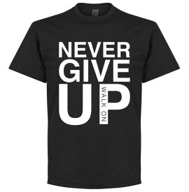 ★SALE★セール★RE-TAKE(リテイク) Never Give Up リバプール Tシャツ(ブラック)【サッカー サポーター グッズ Tシャツ】【店頭受取対応商品】