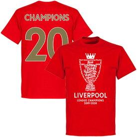 ★SALE★セール★RE-TAKE(リテイク) リバプール Champions 2020 Tシャツ(レッド)【サッカー 優勝記念】