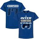 ◆★SALE★セール★RE-TAKE(リテイク) インテル 20-21 Champions 19 Tシャツ(ブルー)【サッカー セリエA スクデット 優勝記念】【店頭…