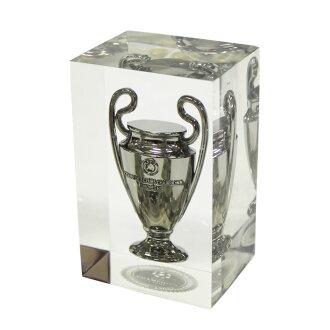 欧洲冠军联赛官方副本奖杯 3D 压克力架 70 毫米
