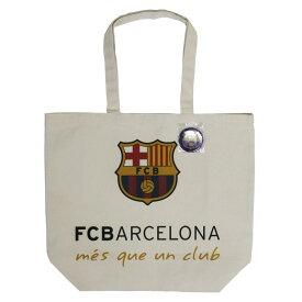FCバルセロナ オフィシャル キャンバス トートバッグ(L) 缶バッジ付き【サッカー サポーター グッズ】(BCN29904)【店頭受取対応商品】