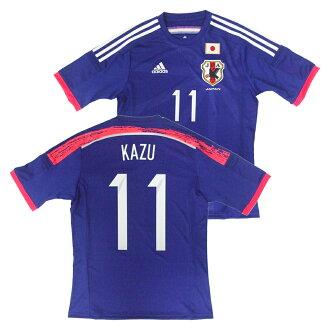 舟三浦 (任务) 足球日本国家队 14 15 家副本泽西短袖 11 号