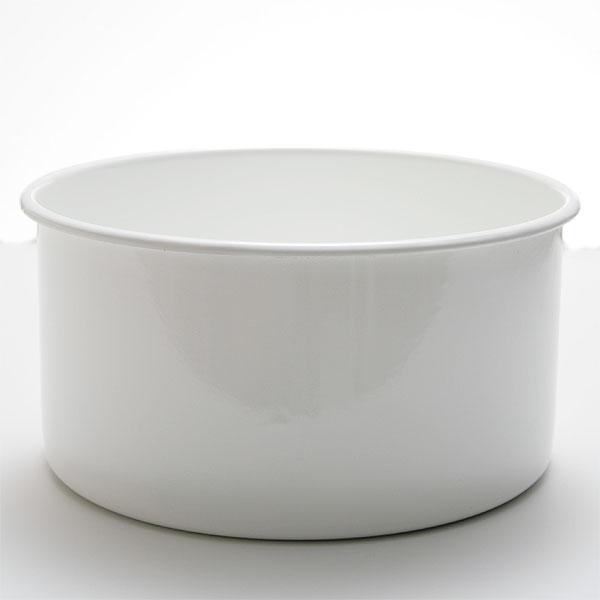 送料無料★野田琺瑯 丸型洗い桶