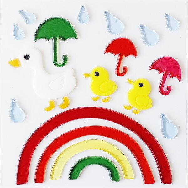 【ポイント10倍】GelGems・ジェルジェムバッグS アヒルノサンポ【あひる 梅雨 虹 レインボー 装飾 デコレーション】
