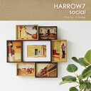 HARROW7・ハロウ7 SOCIAL フォトフレーム【magnet マグネット 写真立て ナチュラル 木製 ウッド 大きい】