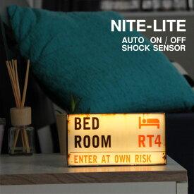 LED NITE-LITE London センサーライト【インテリアライト ストリートサイン ナイトライト】
