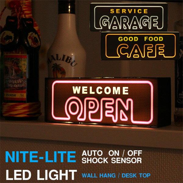 【ポイント10倍】LED NITE-LITE NEON センサーライト【インテリアライト ネオンサイン ナイトライト】