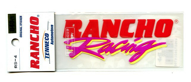 RANCHO Racing 切文字ステッカー 赤〔サスペンションメーカー ランチョ〕