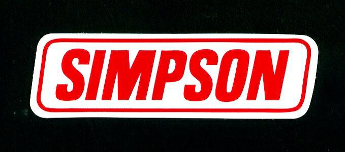 SIMPSON(シンプソン)ステッカー小【USA ヘルメットメーカー】