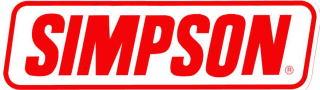 SIMPSON(シンプソン)ステッカー大【ヘルメットメーカー USA レーシング バイク】