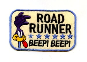 ROAD RUNNER ワッペン BEEP!BEEP!【イラスト キャラクター】