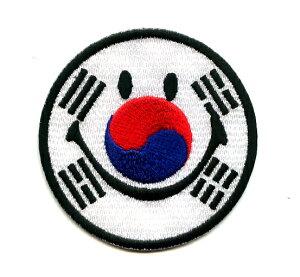 スマイルワッペン 韓国【イラスト 服飾】