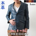 レザージャケット メンズ 本革 ファッション 大きいサイズ S M L LL 3L 4L 5L アウター テーラードジャケット 2ボタン カジュアル フォーマル 革ジャン ブラック ブラウン キャメル