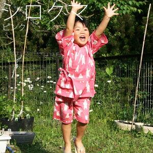 涼綿キッズ甚平(3417)すずめん子供ジュニア男の子女の子ショートパンツハーフパンツ春夏綿コットン100%高島縮み綿クレープクレープ楊柳日本製ギフトプレゼントお盆お祭り