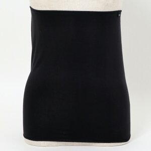 ブラック日本製デュアルウォーム素材を使った腹巻き(5155)【メール便可】