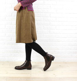 NIMES(ニーム)ポリエステル エルモザスウェード ギャザースカート・NLG5508071-0091502【レディース】
