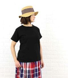 (g) Gauze# Basic Line(グラム)コットン 度詰め裏毛 半袖 Tシャツ・g027-3541601【レディース】