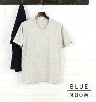 Blue Work(藍色工作)棉布短袖V字領T恤.54-11-61-11702-0171601[M班次5/5]